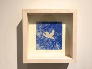 "「cosmic bird」2017""principal blue""イロリムラcref"